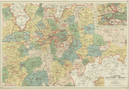 LONDON ELECTRICITY SUPPLY areas. Corporation. Metropolitan. BACON 1934 old map